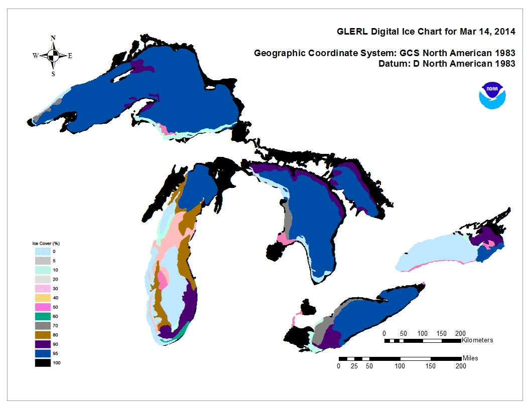 GLERL digital ice chart for Mar 14 2013