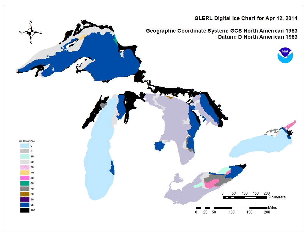 GLERL digital ice chart for Apr 12 2014