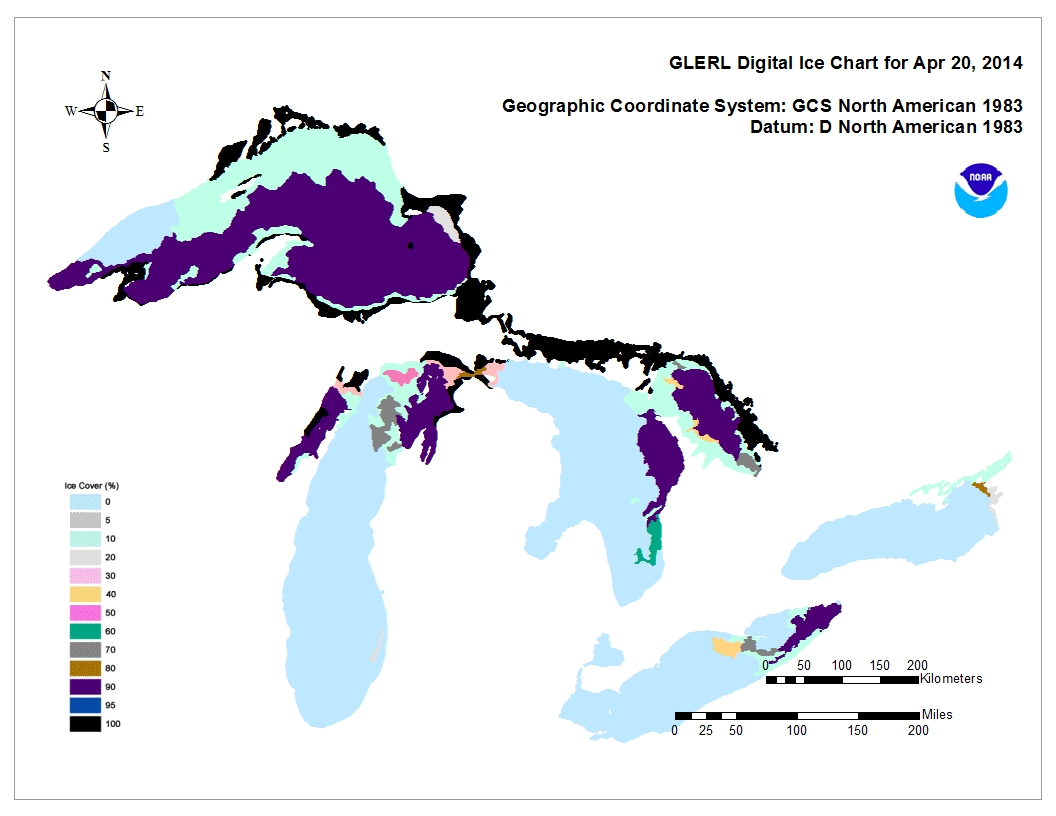 GLERL digital ice chart for Apr 20 2014