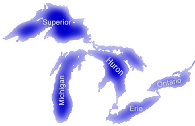 Clickable Map of the Great Lakes
