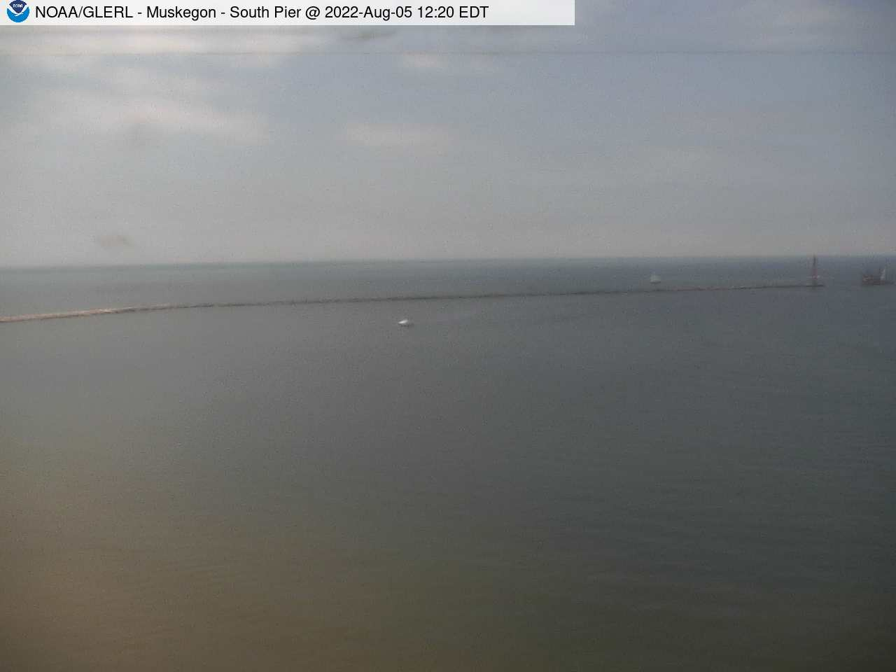 View of Long view of main Muskegon lighthouse
