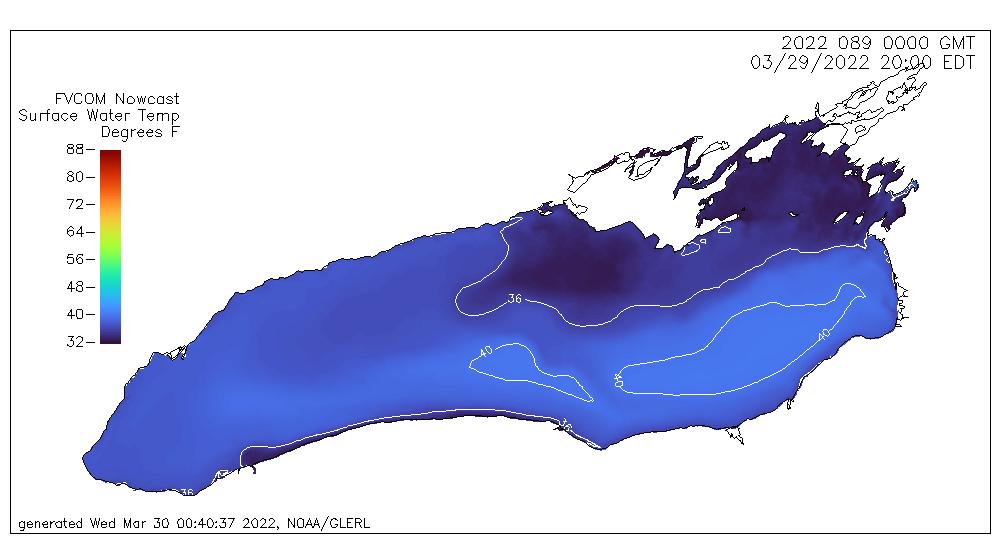 Lake Huron Surface Temps