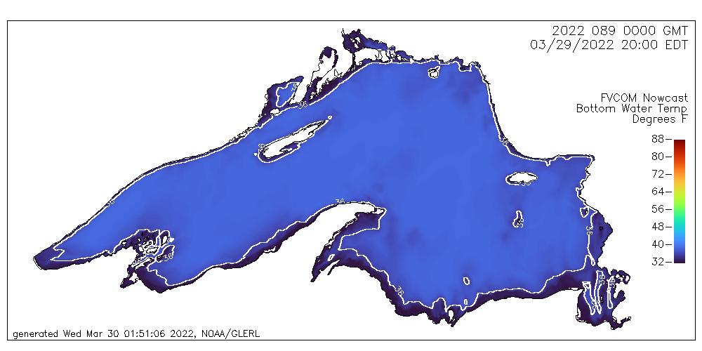Lake Huron Bottom Temps